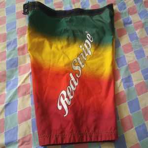 Other - Red Stripe Beer Board Surf Shorts SZ 34